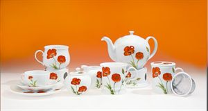 "Milk & sugar set ""Poppy"""