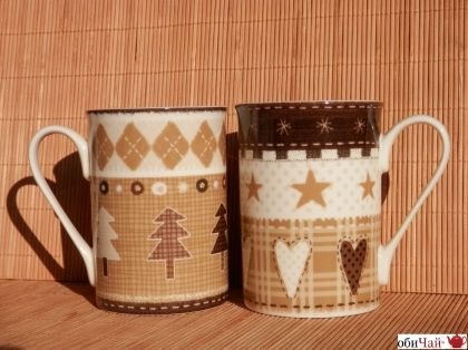 "Mug ""Noelia"", 2 assorted"